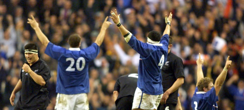 Jim Kayes' mum was worried about him after France defeated the All Blacks All Blacks 43-31 in the Rugby World Cup semi-final at Twickenham in 1999. Photo: Getty Images