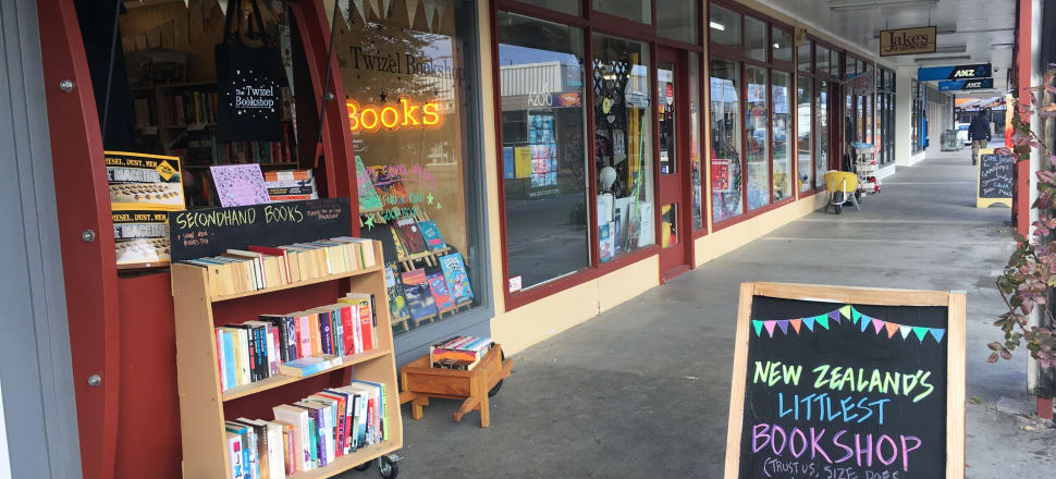 Twizel Bookstore on the main street next to Jake's Hardware (wheelbarrow is display only, not for sale). Photo: Supplied.