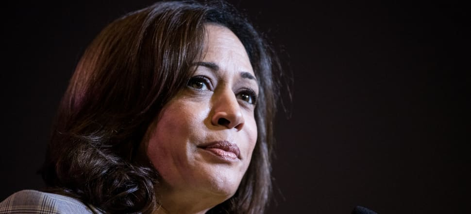 Democrats are desperate to remove Trump from office and they think choosing a female nominee - like Kamala Harris - would make that much harder. Photo: Getty Images