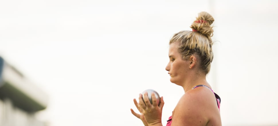 After battling with her mental health, Tayla Clement gave up competitive swimming - and is now throwing world record distances with the shot put in Para athletics. Photo: Alisha Lovrich/Athletics NZ.
