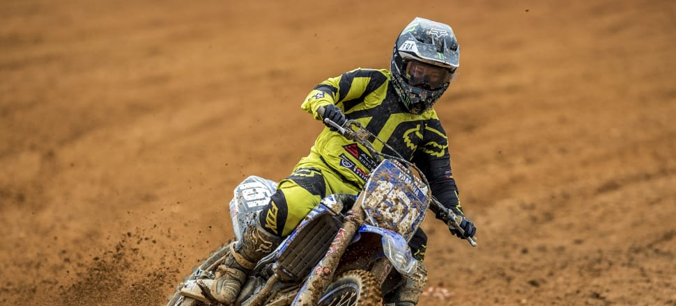 Courtney Duncan is hoping her luck holds as she heads the pack pursuing motocross world championship glory. Photo: Getty Images.