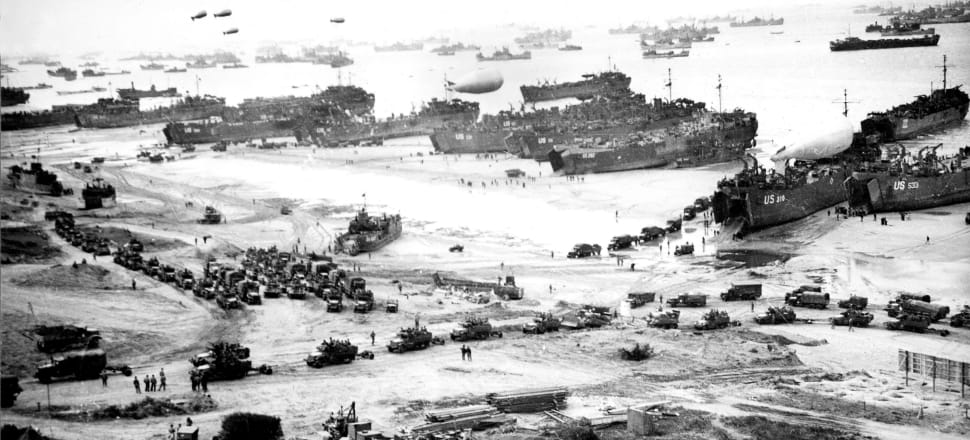 Landing of the allied troops on the beaches of Normandy, France, June 6, 1944. Photo: Getty Images