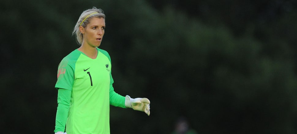 Goalkeeper Erin Nayler, pictured in action in the final warm-up match against Wales, will be crucial to the Football Ferns' hopes of qualifying from Group E. Photo: Getty Images
