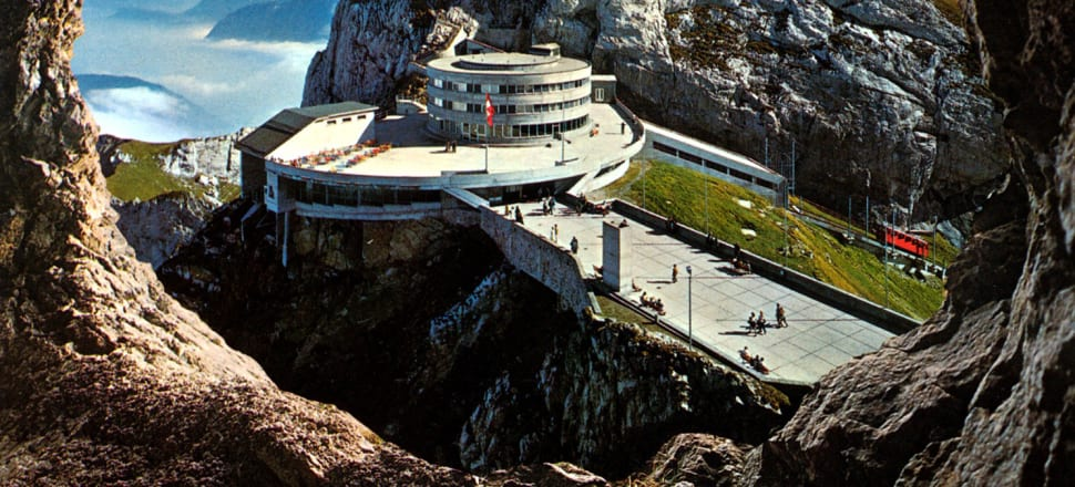 Hotel Bellevue, the starship and the entrance ramp. Photo: Supplied.