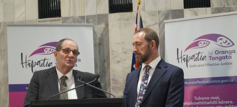 Chester Borrows (left) and Justice Minister Andrew Little agree there needs to be long-term, transformational change to the criminal justice system. Photo: Shane Cowlishaw