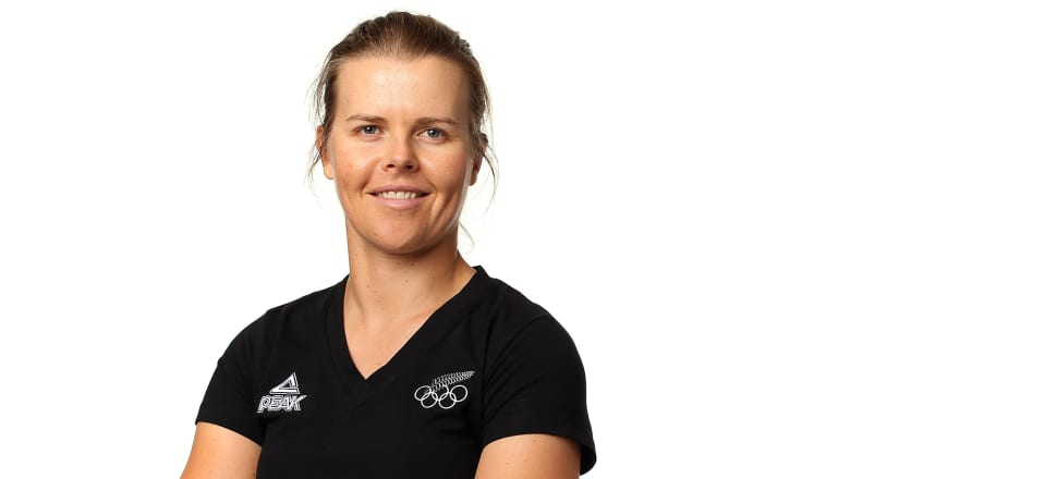 Olympic sailing champion Polly Powrie now helps New Zealand's top canoeists get from A to B off the water, while also looking after her two-month-old daughter, Katie. Photo: Getty Images.