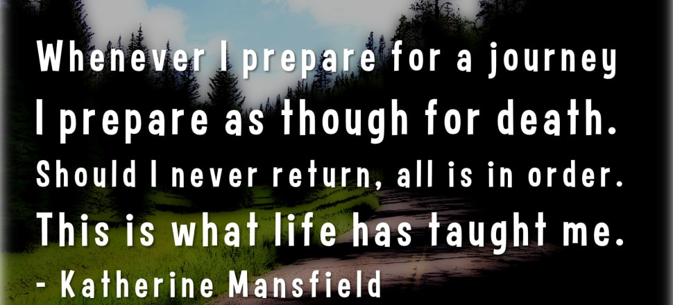 Katherine Mansfield words. Photo: Flickr