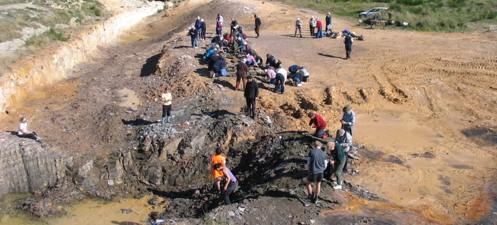 Plaman Resources planned to create a 180 metre deep open pit mine at a maar frequently visited by university students (pictured). Photo: Daphne Lee CC BY 4.0