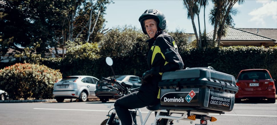 Kiwi electric bike company UBCO has just announced a partnership with Domino's; Image supplied.