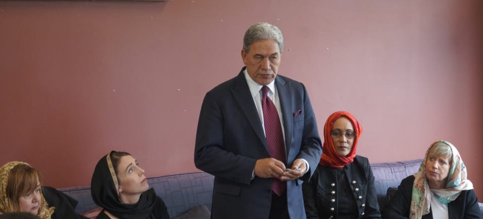 NZ First leader Winston Peters was at a Christchurch Muslim centre at the weekend. Photo: Sam Sachdeva