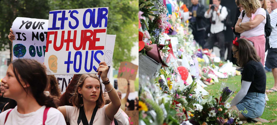 For Sara Kindon, the slow death of our planet, the legacies of colonialism, poor mental health and the sudden deaths of Muslims in Christchurch are interconnected.Photos: Lynn Grieveson (left) and David Williams (right)