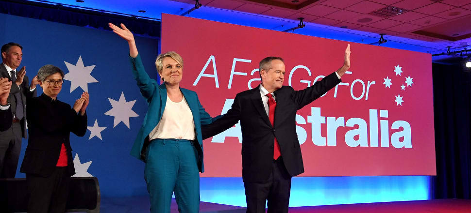 Labor leader Bill Shorten and deputy Tanya Plibersek launch their campaign in Brisbane. Photo: Getty Images