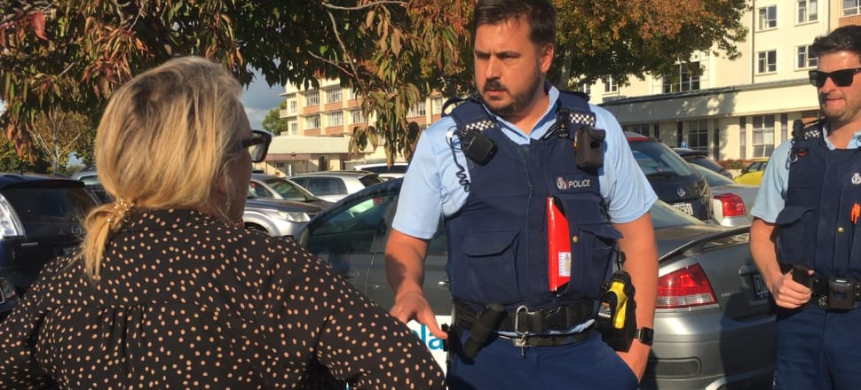 Police are called by DHB after journalist Melanie Reid was stopped from entering the  hospital. Photo: Supplied