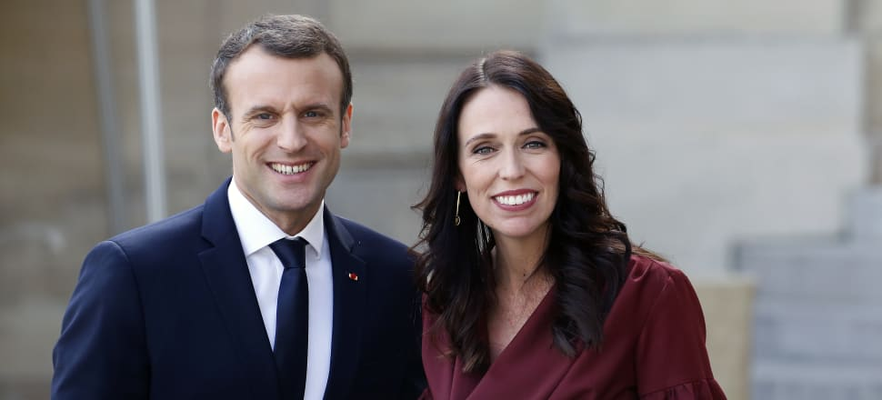 Jacinda Ardern and Emmanuel Macron will co-chair the Christchurch Call conference in Paris. Photo: Getty Images
