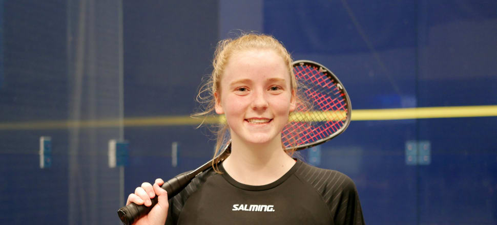 In her first year out of Freyberg High School, Kaitlyn Watts has become a professional squash player, following in the footsteps of her role model, Commonwealth Games champion Joelle King. Photo: Suzanne McFadden.