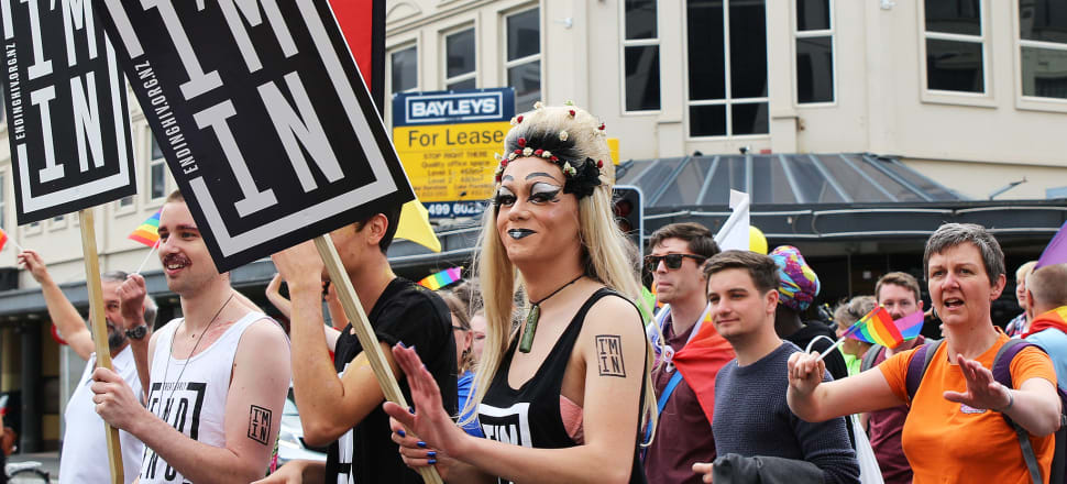 The 'I'm In' ending HIV campaign at Wellington Pride Parade. NZ was a world leader in HIV prevention in the 1980s and this generation can get us there again. Photo: Lynn Grieveson