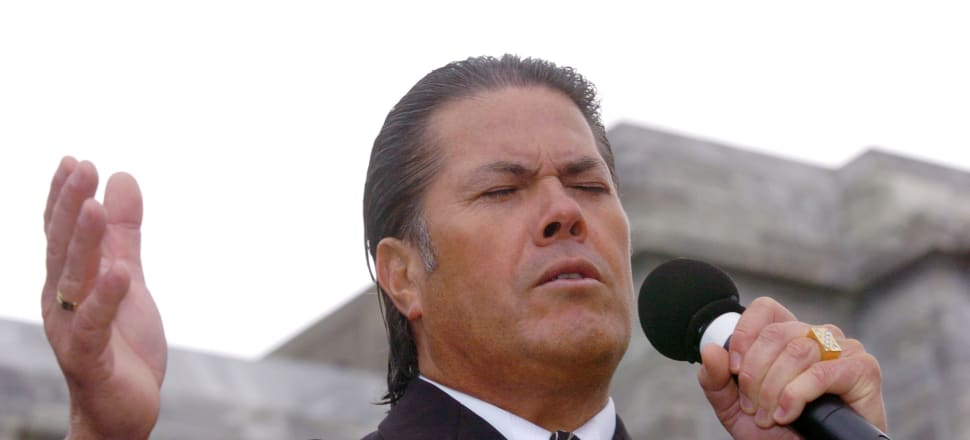 Brian Tamaki - one moral slip-up and his Destiny crumbles. Photo: Getty Images