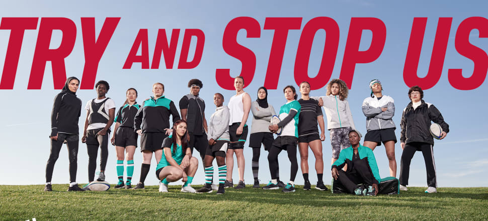 The Unstoppables XV are rugby women from all corners of the globe - including Black Fern Stacey Waaka, fifth from the right - who've had to overcome obstacles to play their part in the game. Photo: World Rugby.
