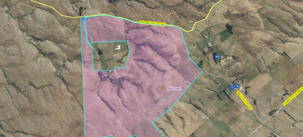 The pink shaded area is the land Plaman Resources would like to buy. The clear area in the centre of the pink is the 42 hectares the company already own. Map Source: DCC CC BY 3.0