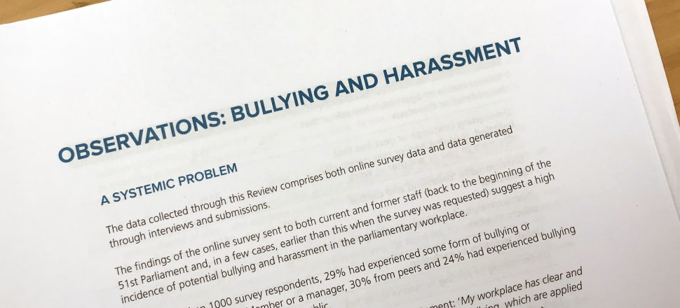 Public scrutiny of workplace bullying and harassment seems higher than ever before - so what will our politicians do to keep up? Photo: Lynn Grieveson.