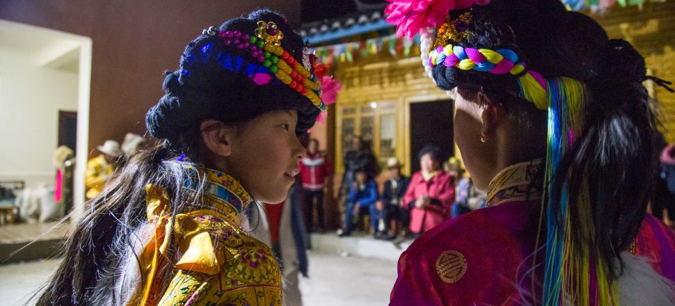 Mosuo girls attend a Coming-of-Age party. Photo: Getty Images