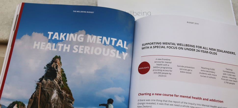 The Wellbeing Budget's section on mental health. Photo: Lynn Grieveson