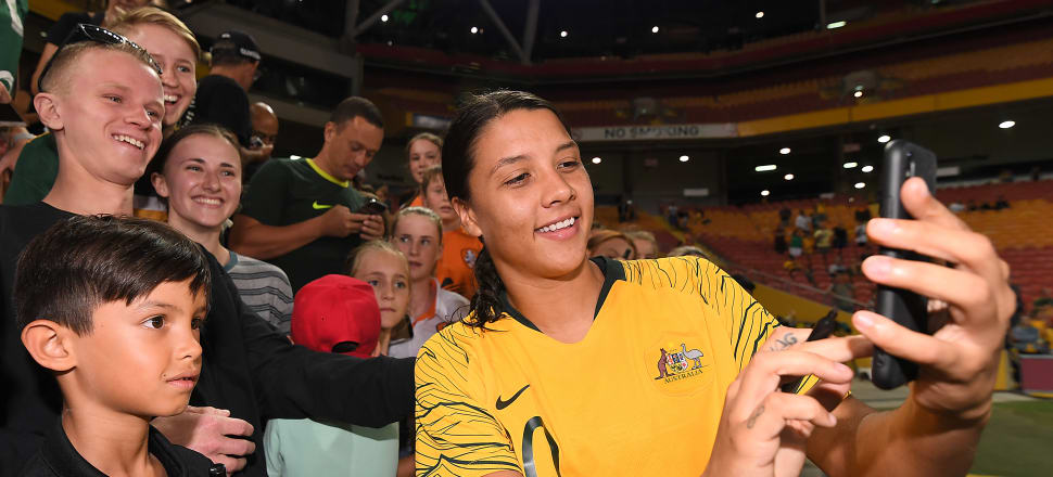 Matildas superstar Sam Kerr is the reining golden boot in both the United States and Australian football leagues. Photo: Getty Images