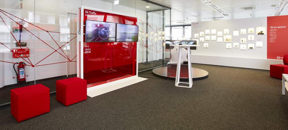 The Vodafone 5G lab in Dusseldorf, Germany. Photo: Supplied/Vodafone