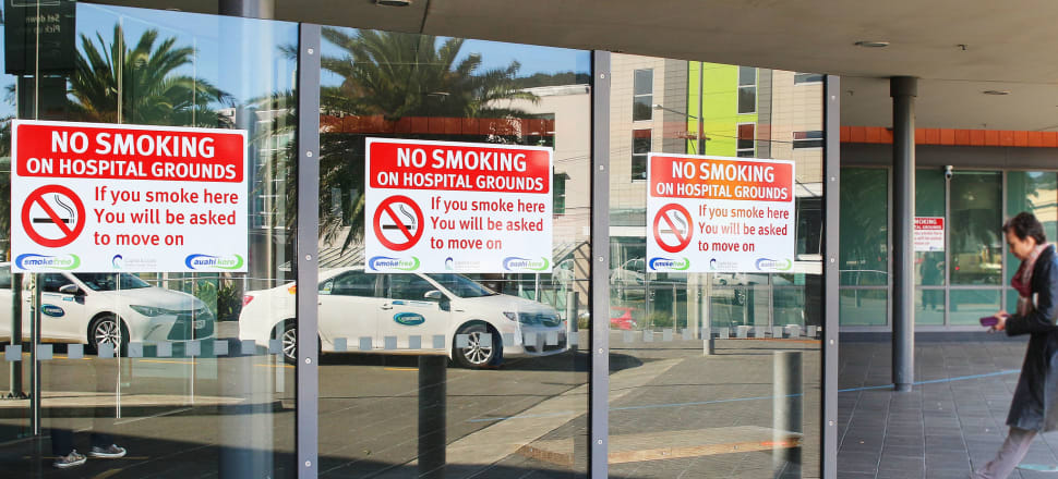 Hospitals have come down hard on smoking on their grounds, but hospitals, DHBs, and the Ministry of Health do not compel vaccination as an employment condition despite the potential for harm to others from unvaccinated staff. Photo: Lynn Grieveson