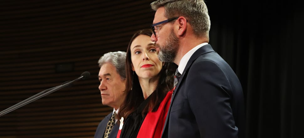 Winston Peters' claiming of credit over a partnership visa crackdown have put Jacinda Ardern and Immigration Minister Iain Lees-Galloway in an awkward position. Photo: Lynn Grieveson.