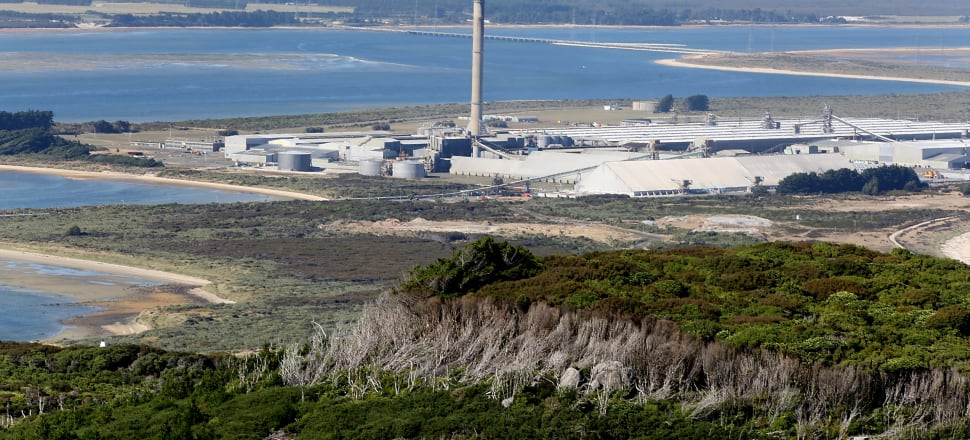 Tiwai Point aluminium smelter, near Bluff in Southland. Photo: Getty Images