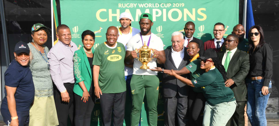 People responded with optimism and positivity to Siya Kolisi's winning speech at the World Cup. Photo: Getty Images