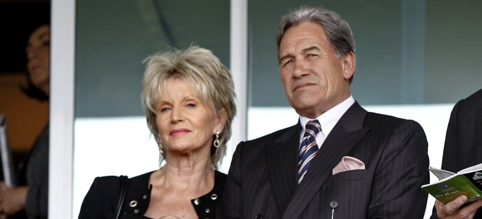 Winston Peters with partner Jan Trotman. Photo: Getty Images