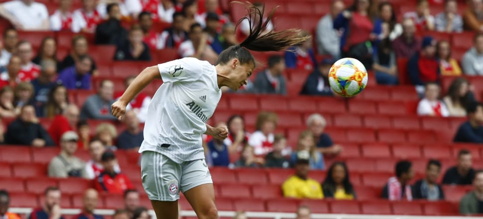 Kiwi defender Ali Riley is putting everything she has into her season with Bayern Munich, in the club's bid to win the Frauen-Bundesliga and the Champions League. Photo: Getty Images.