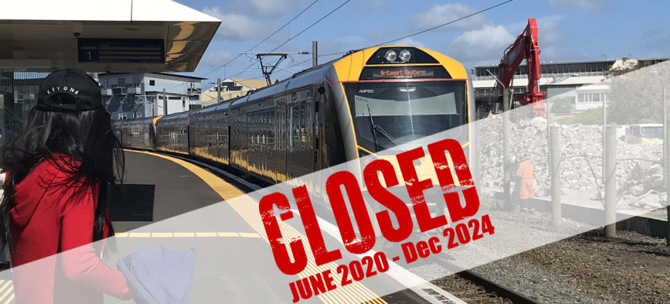 Auckland's Mt Eden train station will be the hub for tunnelling and will close for almost four years. Photo: Nikki Mandow.