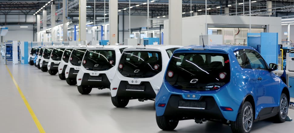 E-Go's electric car factory in Aachen, Germany. Photo: Getty Images