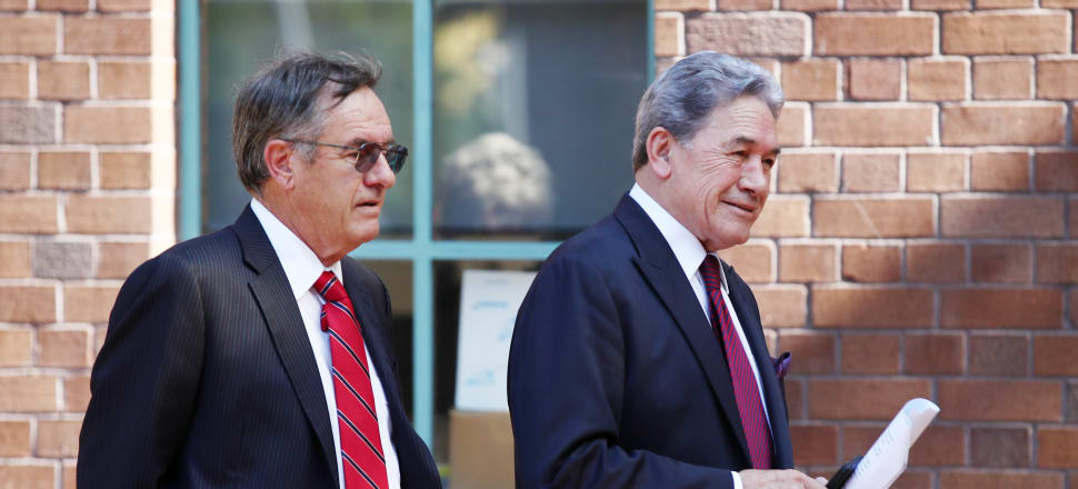 Winston Peters, right, with his lawyer Brian Henry.  Photo: Getty Images