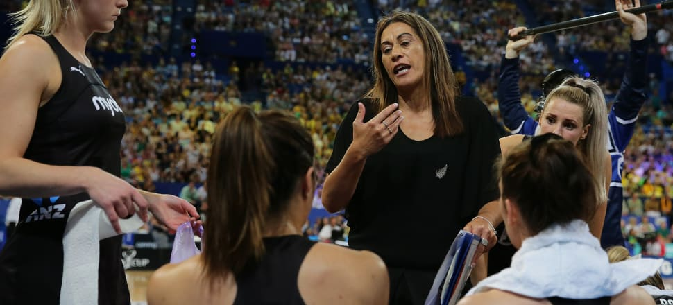 Noeline Taurua has one more contest at the helm of the Silver Ferns, the Netball Nations Cup in England in January, before she decides whether to continue to coach the world champions. Photo: Getty Images.