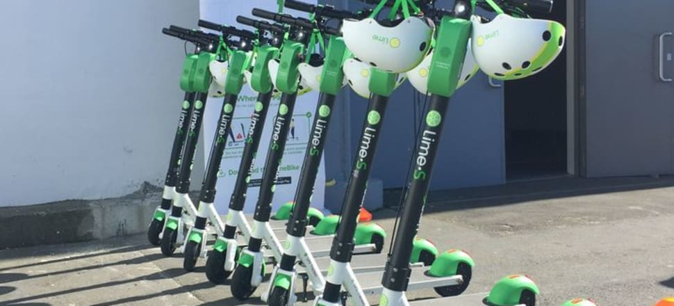 Lime and Wave e-scooters will be gone from the streets of Auckland, after the regulator decided not to renew the company's contract. Photo RNZ