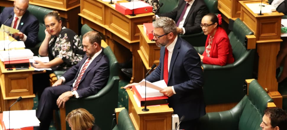 Minister for Workplace Relations and Immigration, Iain Lees-Galloway speaks in Parliament. Photo: Lynn Grieveson