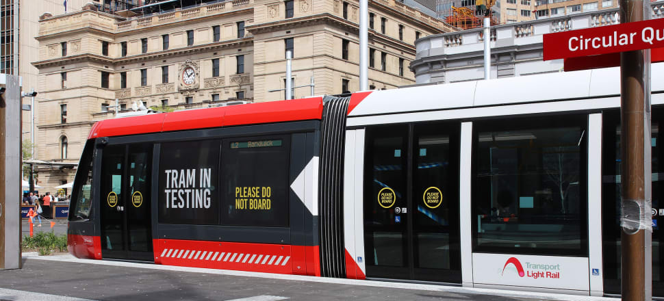 Light rail tram being tested this weekend in Sydney. Napier, 113 years ago, was able to get a tram service up and running just six months after starting to lay tracks, but infrastructure development now takes an inordinately long time, says Peter Dunne. Photo: Lynn Grieveson