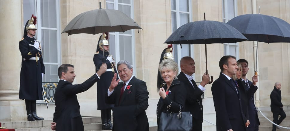 Winston Peters and partner Jan Trotman, whose application for national superannuation led to his overpayment being discovered in 2017.  Photo: Getty Images