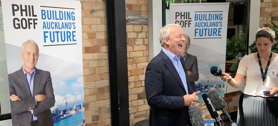 In the end it was an easy win for Phil Goff vs John Tamihere for the Auckland mayoralty. Photo: Tim Murphy