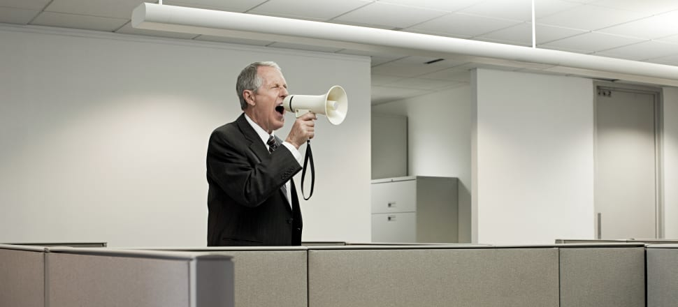 A man, not shutting up. Stock photo: Getty Images