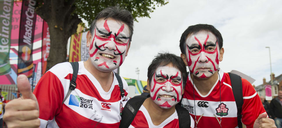 It's only Japan's fifth favourite sport but Rugby World Cup fever has swept the nation. Photo: Getty Images