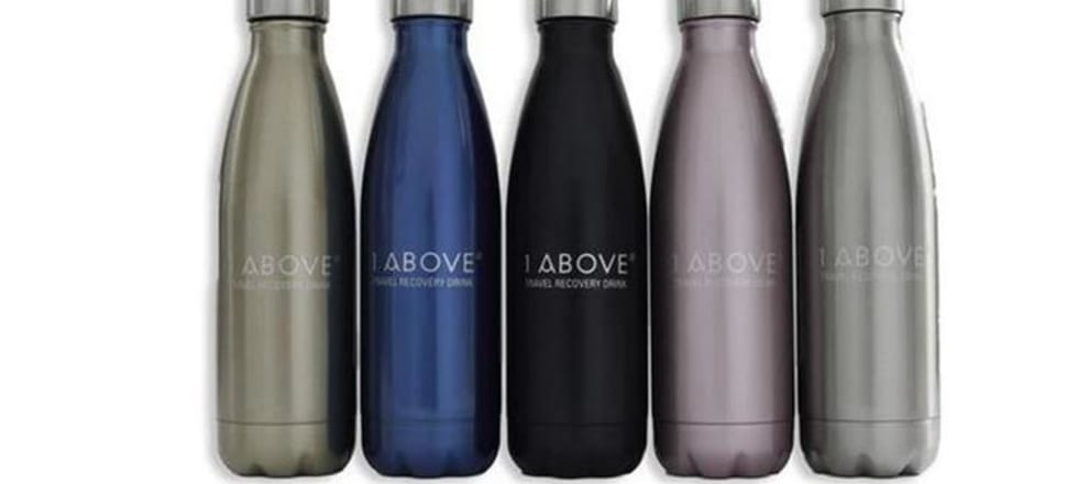 1ABOVE markets its drinks at tablets as helping recovery from hangovers or jetlag. Photo: 1ABOVE