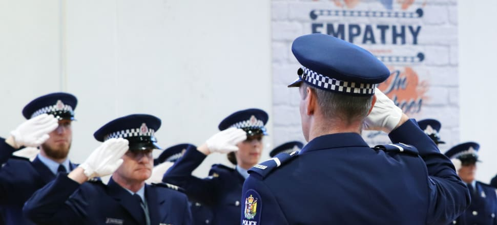 The Government's goal of adding 1800 new police officers in three years always seemed ambitious - but shifting the definition of success is cynical in the extreme. Photo: Lynn Grieveson.