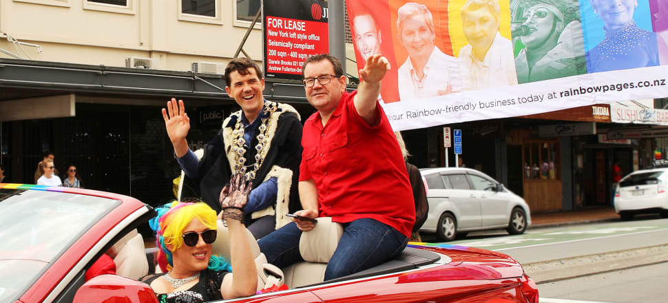 Justin Lester and Grant Robertson were all smiles at Wellington's Pride Parade in the heady days soon after the coalition Government's swearing in. Lester's fall could be read as a warning for that Government's future, writes Peter Dunne. Photo: Lynn Grieveson