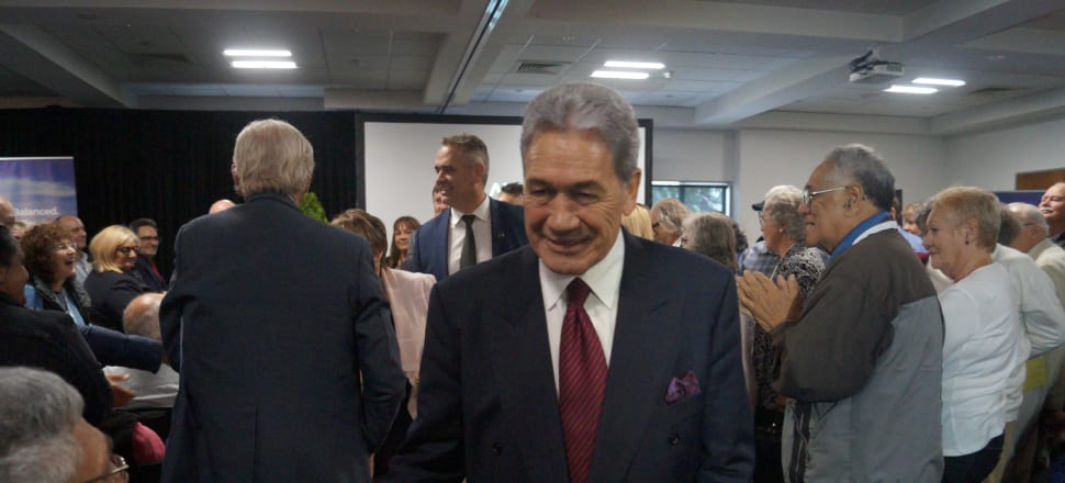 Winston Peters shakes the hands of supporters after New Zealand First's party conference. Photo: Sam Sachdeva.