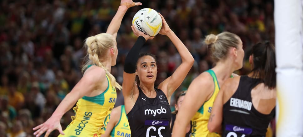 In her 149th test, Maria Folau was at her sure and composed best, shooting 27 from 31 shots, and helping the Silver Ferns to another one-goal victory over the Diamonds in Sydney. Photo: Michael Bradley Photography.